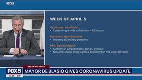 Mayor Bill de Blasio addresses coronavirus outbreak on April 5