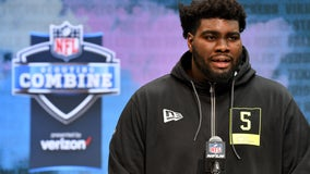 Offensive tackle Mekhi Becton from Louisville taken by NY Jets