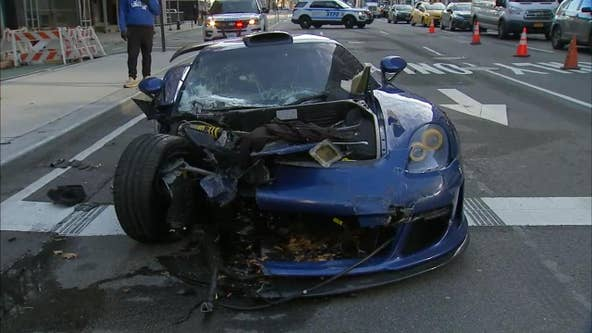 Driver goes on rampage in sports car in Manhattan
