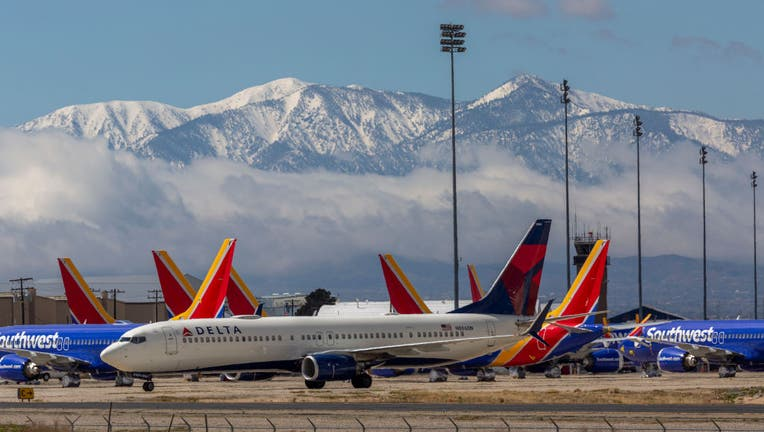 be5d9fcb-Airlines Park Planes In Southern California Due To Coronavirus Slowdown