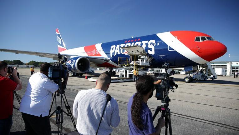 Inaugural Flight Of New England Patriots' Customized Plane