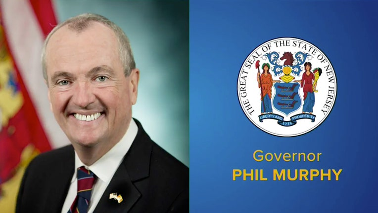 Gov. Phil Murphy headshot and New Jersey state seal