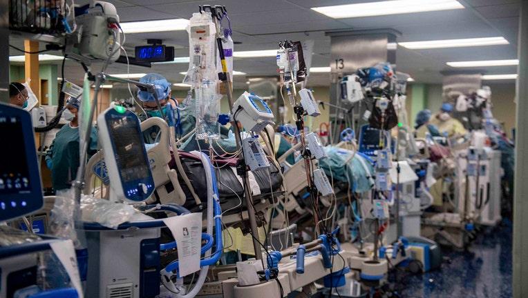 Sailors at ICU beds