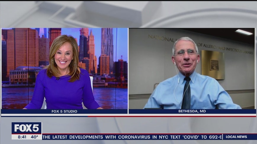 Dr. Fauci asked if he'd lead a ticker tape parade for healthcare workers?