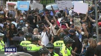 Officials urging calm as George Floyd protesters hit NYC streets again