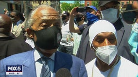Rev. Al Sharpton leads George Floyd protest on Staten Island