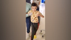 8-year-old takes first steps after 12-hour brain tumor removal surgery