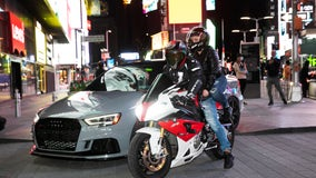 Sports car collectors take over Times Square