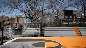 NYC's iconic street ball courts go quiet during pandemic