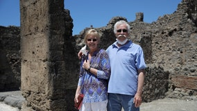 American couple waits 2 1/2 months in lockdown to visit Pompeii