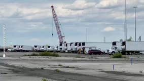 Trucks for bodies line Brooklyn pier as funeral homes remain overwhelmed