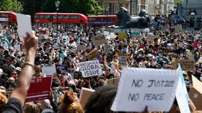 Protesters march to US embassies in UK, Germany, Denmark as world reacts to death of George Floyd