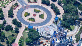 Aerial photos show an empty Walt Disney World as the coronavirus pandemic keeps the parks closed