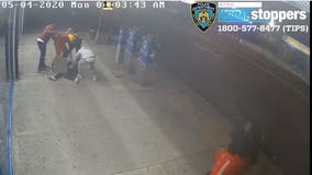 Group assaults, pours liquid on man's face