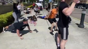 Demonstrators do push-ups, squats outside Pinellas courthouse to protest gym closures