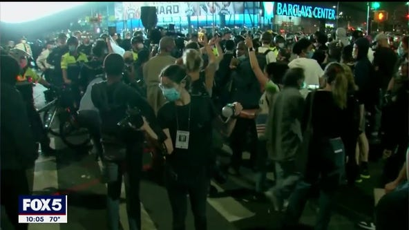 Second night of George Floyd protests in NYC turn violent