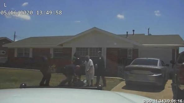Body camera footage shows 90-year-old woman fall during grandson's arrest
