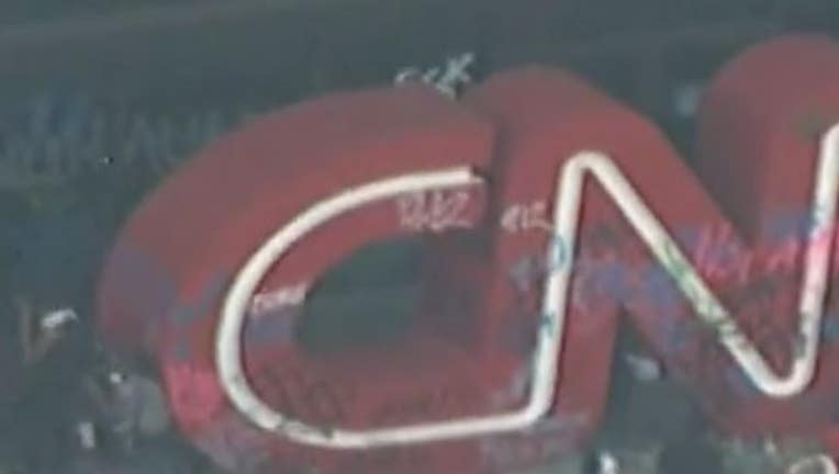 CNN Center Heavily Vandalized During Atlanta Protest Against Death of George Floyd
