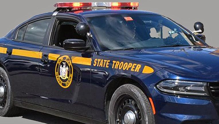 A New York State Police patrol cruiser