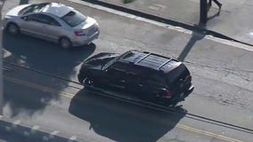Police pursue an SUV driver in South Central Los Angeles