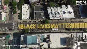 Black Lives Matter mural street in Brooklyn closed to traffic through end of summer