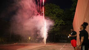 New Yorkers fed up with fireworks gather at Gracie Mansion