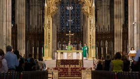 St. Patrick's Cathedral holds first public Sunday Mass since COVID-19 pandemic began