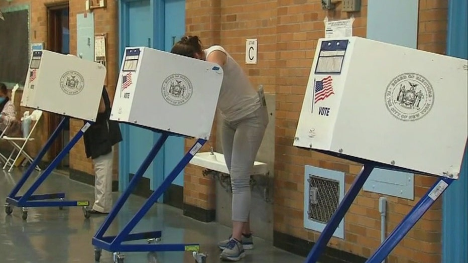 Voters at the polls in New York City in June 2020