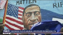 Mural for George Floyd in Brooklyn
