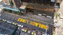 Black Lives Matter mural painted in front of Trump Tower in Manhattan