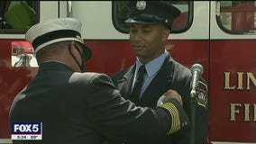 NJ fire department promotes first African-American officer
