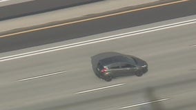Police pursue erratic driver at high speeds through several SoCal cities