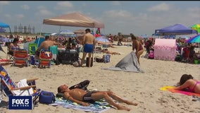 Long Island beaches fill up for July 4