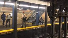 Subway station floods as Tropical Storm Fay drenches NYC