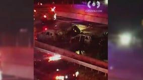 Speeding car flips onto Bruckner Expressway killing driver and passenger