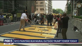 BLM mural painted on 5th Avenue