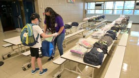 NYC elementary school students return to classrooms