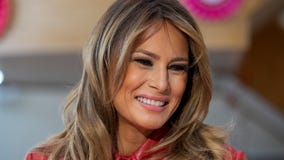 First lady Melania Trump delivers lunch to firefighters and families in DC