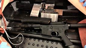 Assault rifle, hollow-point bullets hidden in bag at Newark Airport