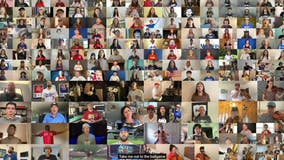 Brookly man creates virtual performance of Take Me Out to the Ballgame with 200 fans, MLB stars