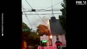 Lightning sets fire to church in Queens