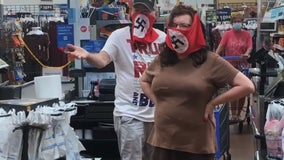 Couple banned by Walmart after wearing Nazi flag face masks at Marshall, Minnesota store