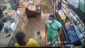 Man stabs customer in candy store for 'staring at him'