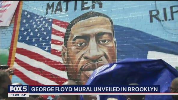 Mural for George Floyd in Brooklyn