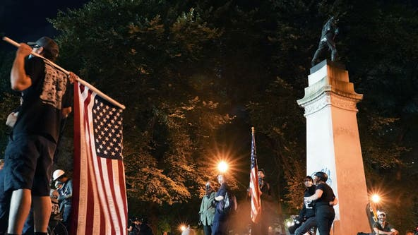 Portland protest peaceful after federal presence reduced