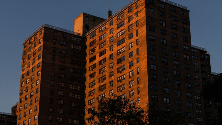 NEW YORK, NY - JULY 29: Sunlight falls on Ebbett's Field, a rent-regulated housing complex in the Crown Heights neighborhood of Brooklyn, on July 29, 2020 in New York City.