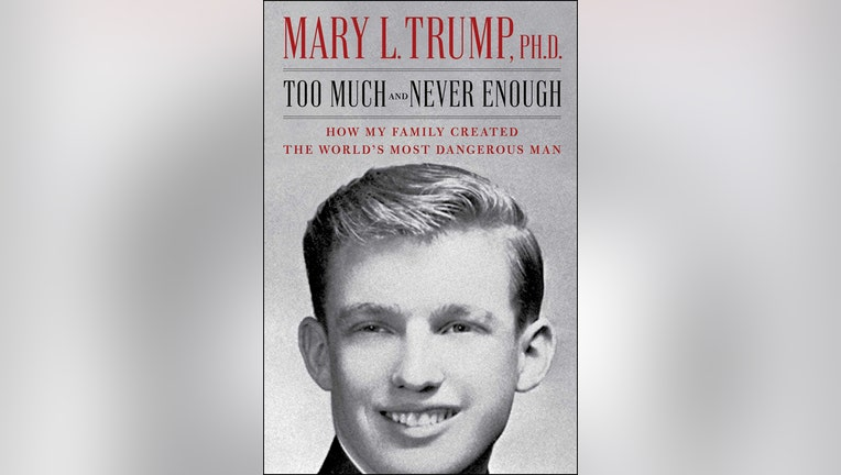 Book cover of Too Much and Never Enough shows an image of a young Donald Trump