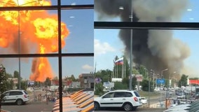 Video captures massive explosion erupting from gas station in Russia