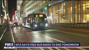 MTA: Free bus rides come to an end Monday