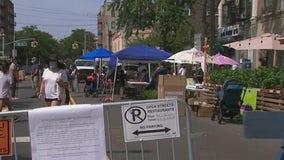Outdoor communal dining areas debut in Queens
